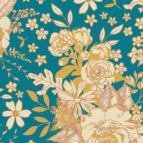 Floral Universe Turquoise