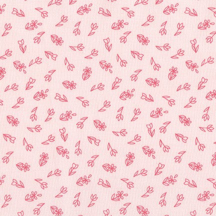 On the Lighter Side - Pearl Pink Flowers - Fat Quarter