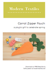 Carrot Zipper Pouch Pattern