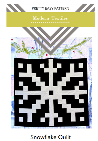 Pretty Easy Pattern - Snowflake Quilt