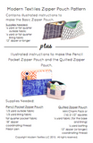 Zipper Pouch PDF Pattern - Digital Download