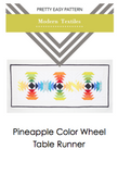 Pineapple Color Wheel Table Runner Digital Download