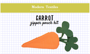 Carrot Zipper Pouch Kit