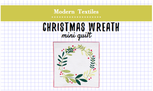Christmas Wreath Mini Quilt Kit