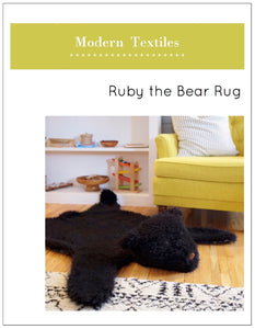 Ruby the Bear Rug Pattern