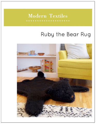 Ruby the Bear Rug PDF Pattern - Digital Download