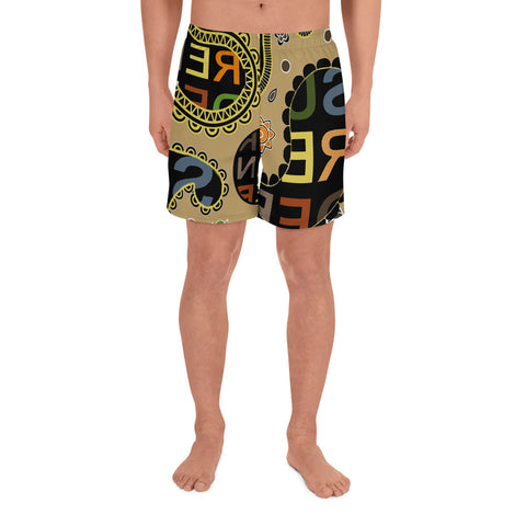 Surrender Men's Athletic Paisley Long Shorts