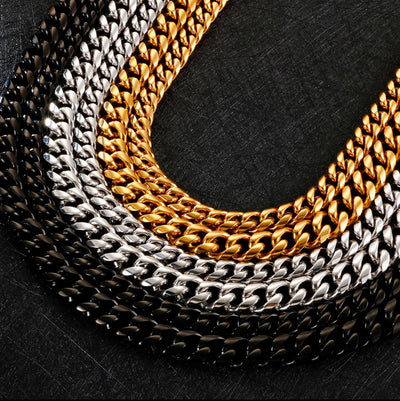 10mm & 13mm wide  Miami Cuban chain with CZ bling closure