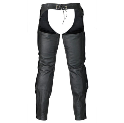 Zip-Out  Insulated Style Zipper Pocket Leather Chaps- Men or Women