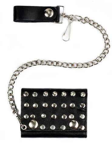 Studded  Wallet and chain