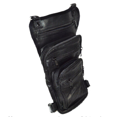 Leather Thigh Bag w/ Waist Belt and Concealed Gun Pocket