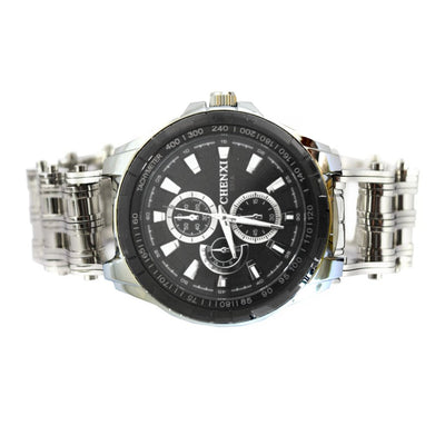 Stainless Steel Bike Chain Watch
