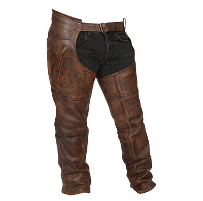 Vintage Brown Leather Chaps- Men or Women