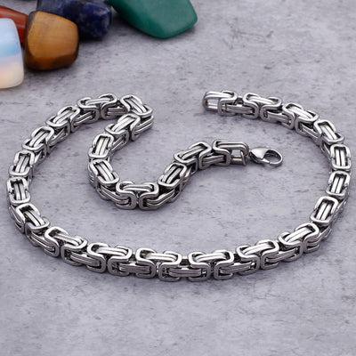 Unisex 5/6/8MM Thick Biz Chain Stainless Steel