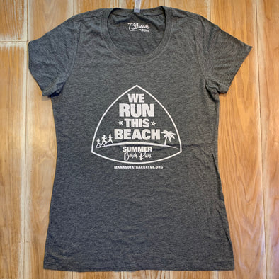 Women's Large shirt - We run this beach