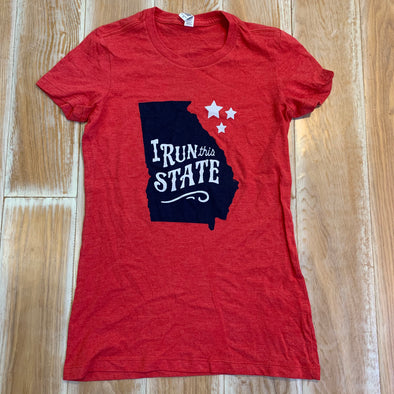 Women's Small - I Run this State Georgia
