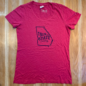 Women's Large shirt - I run this state Georgia
