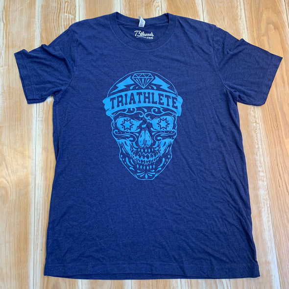Men's Large shirt - Triathlete Skull