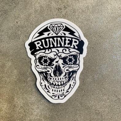 Runner Skull Sticker