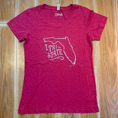 Women's Large shirt - I Tri this state - Florida