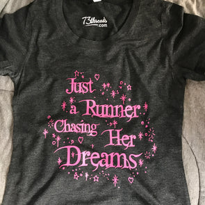 Just a Runner Chasing her Dreams - Pink