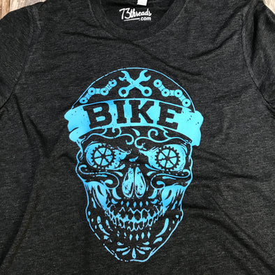 Bike Skull - Blue ink