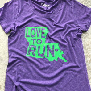 Love to Run - Louisiana - Green Ink