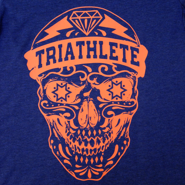 Triathlete Skull - Orange Ink