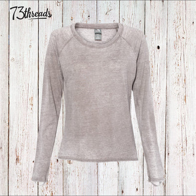 Women's Long Sleeve burnout t-shirt with thumb loops
