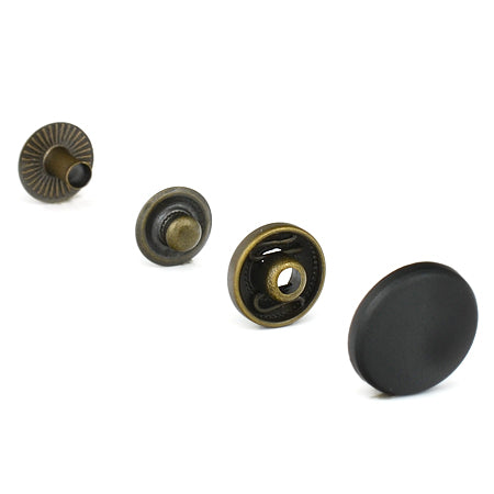 Capse Metalice 12.5 mm  finisaj Nero