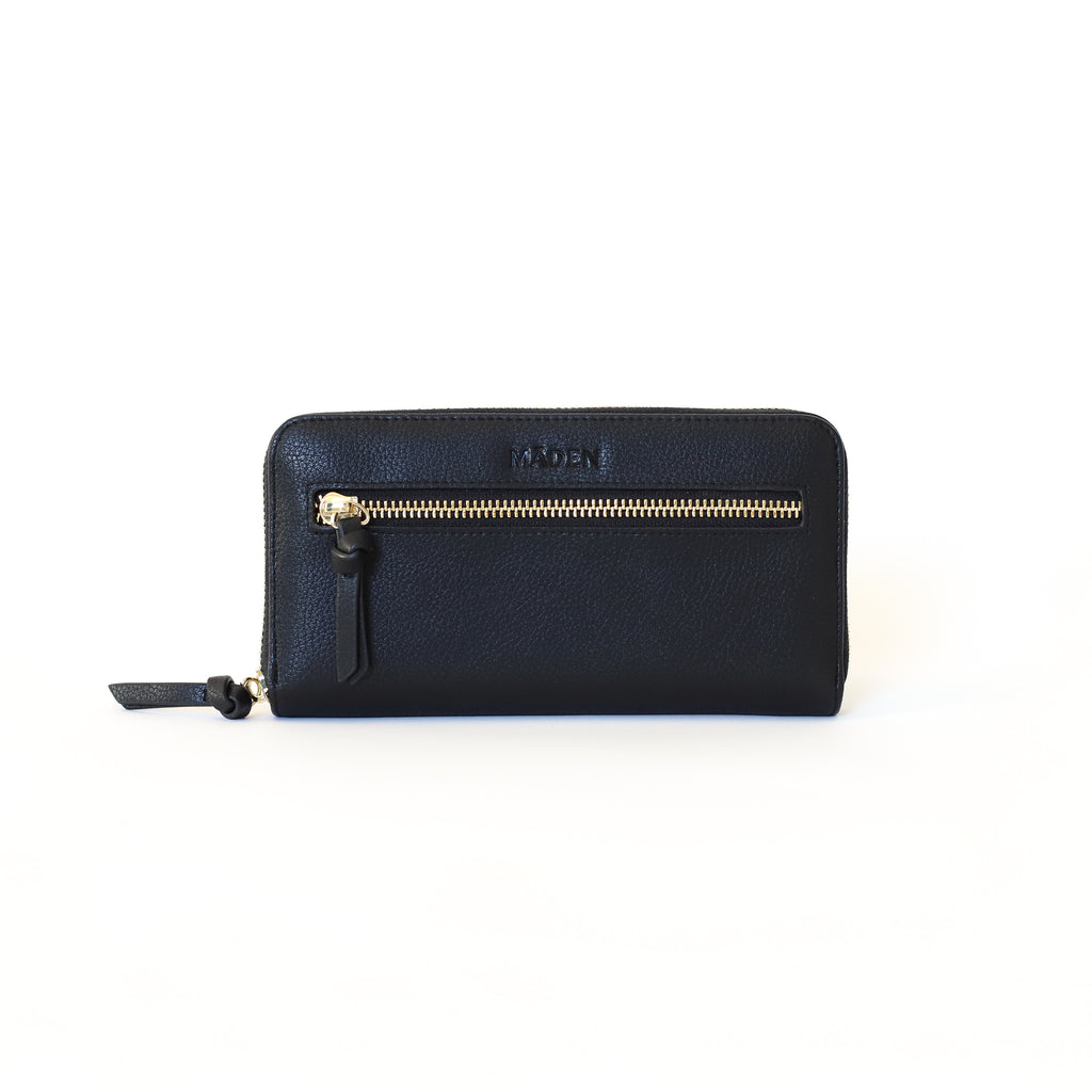 Black Essentials Zip Wallet