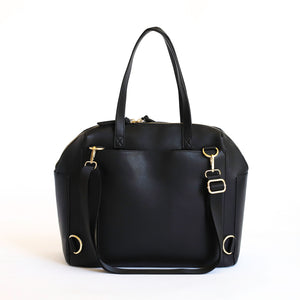 BLACK CARRYALL CONVERTIBLE TOTE