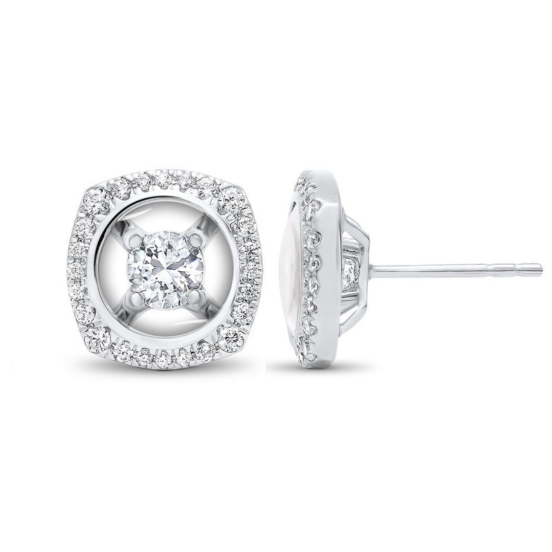 10K White Gold Diamond Earrings 1/3 ct
