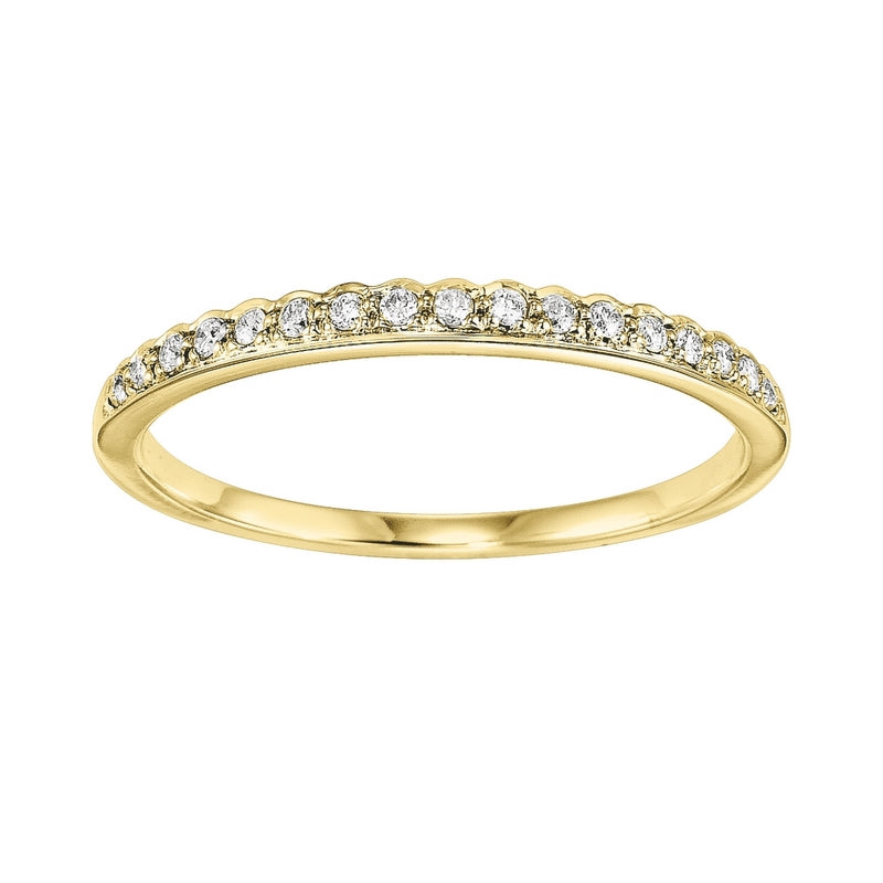 10K Yellow Gold Diamond Fashion Ring