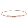 Rose Gold Finish Sterling Silver Cable Cuff Bracelet With Name Plate - HOPE