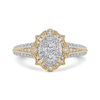 14K Two Tone Gold Round Cut Diamond Ring