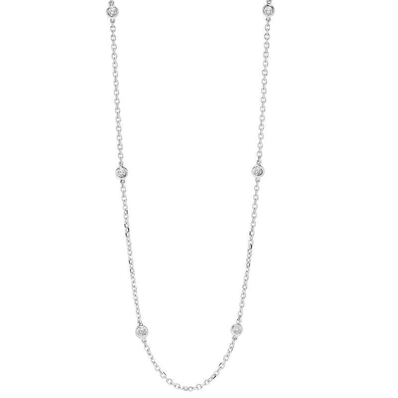 14K White Gold Diamond 1/2 ct Necklace