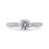 14K White Gold Round Ct Diamond Engagement Ring|***Complete Ring