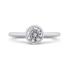 14K White Gold Round Diamond Classic Engagement Ring|***Complete Ring