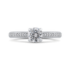 14K White Gold Round Diamond Engagement Ring|***Complete Ring