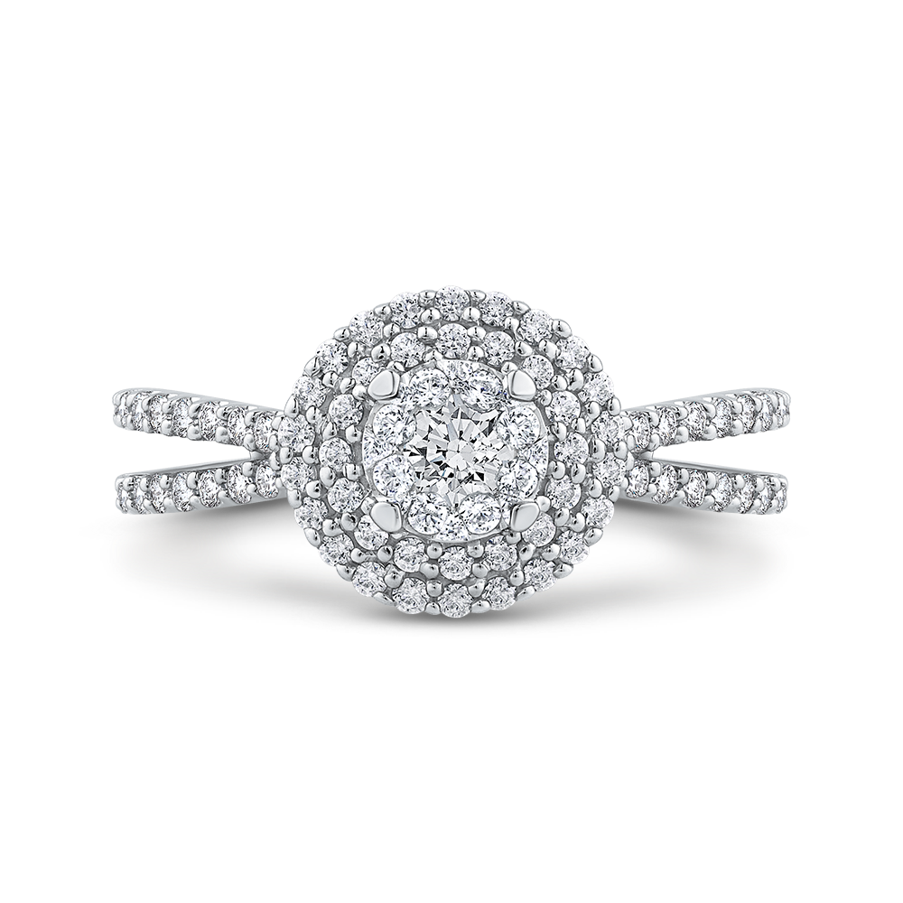 10K White Gold 2/3 ct White Diamond Fashion Ring