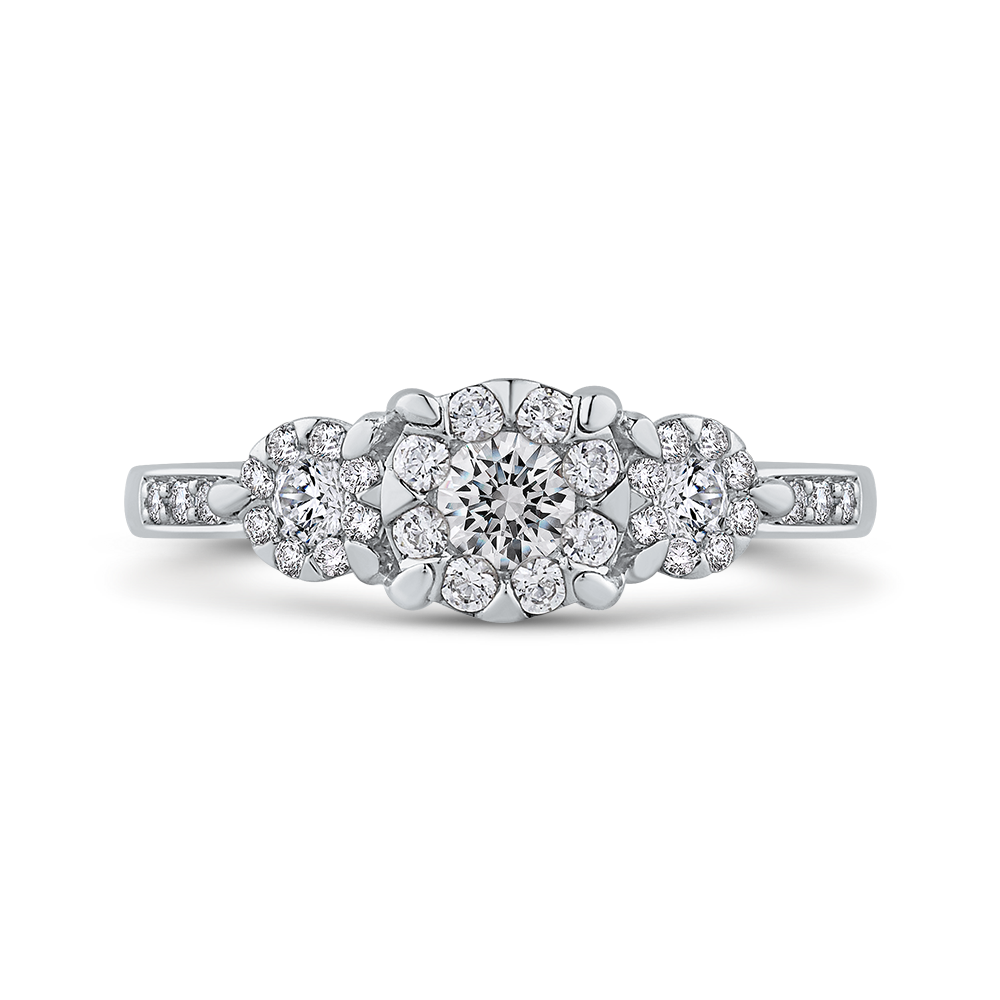 10K White Gold 2/3 ct Round Diamond Fashion Ring