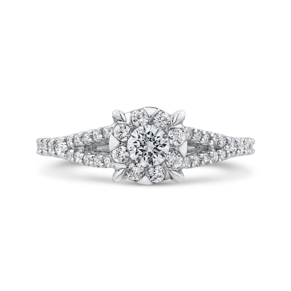 10K White Gold 5/8 ct Round White Diamond Fashion Ring