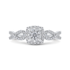 1/2 ct Round White Diamond 10K White Gold Fashion Ring