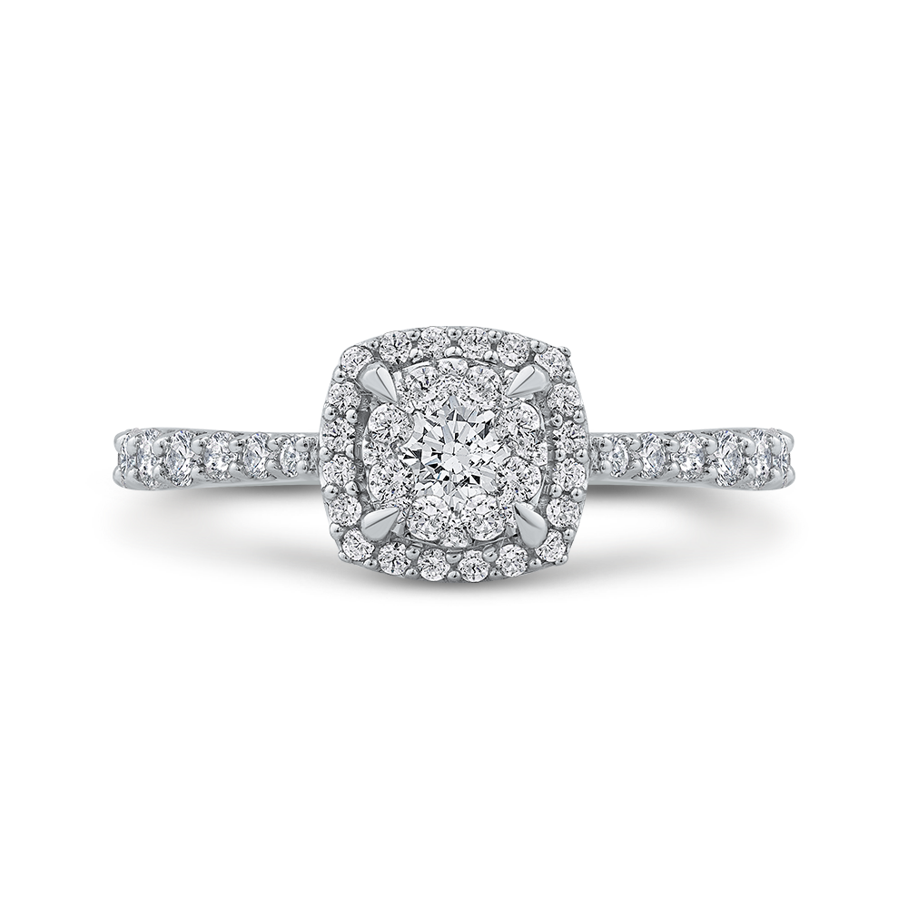 10K White Gold 5/8 ct White Diamond Fashion Ring