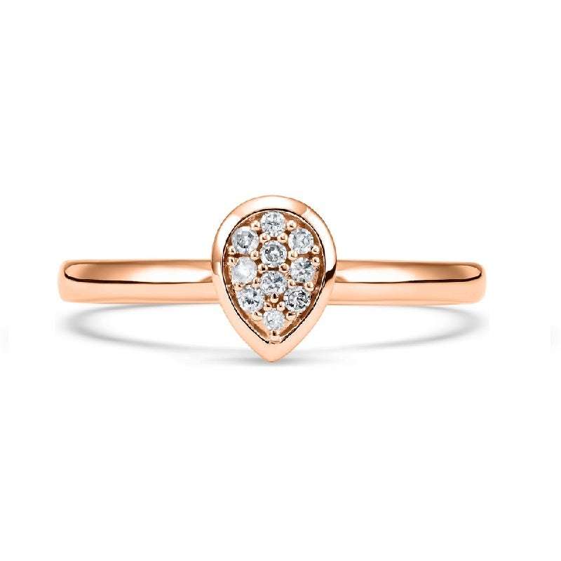 10K Rose Gold Diamond Mixable Ring 1/10 ct
