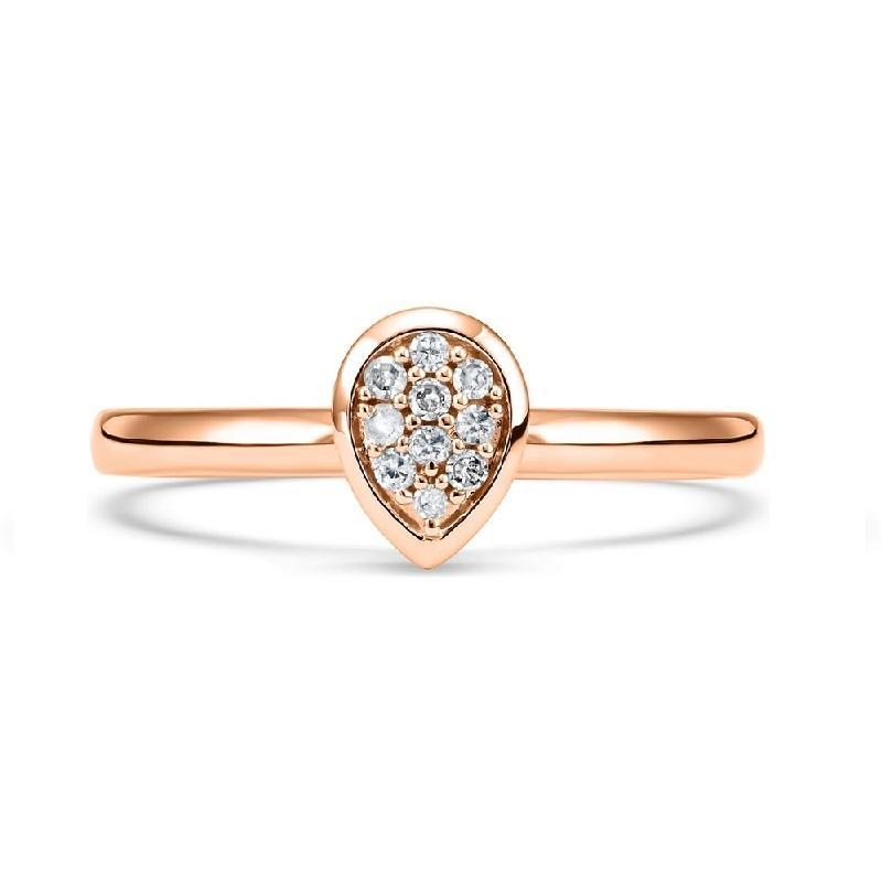 14K Rose Gold Diamond Mixable Ring 1/10 ct