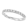 14K White Gold Diamond 11 Stone Prong Set Band 1/2 ct