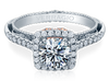 Venetian AFN-5061CU-2T Diamond Engagement Semi-Mount 0.55ctw.