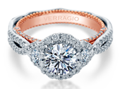 Venetian AFN-5075R-2WR Diamond Engagement Semi-Mount 0.80ctw.